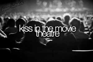 Kiss in the movie theatre!