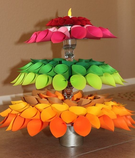 The origami Diya Tree
