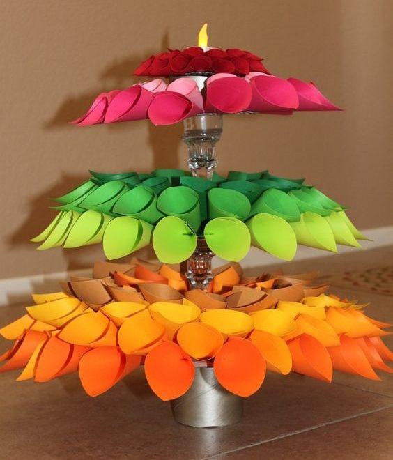 The origami Diya Tree