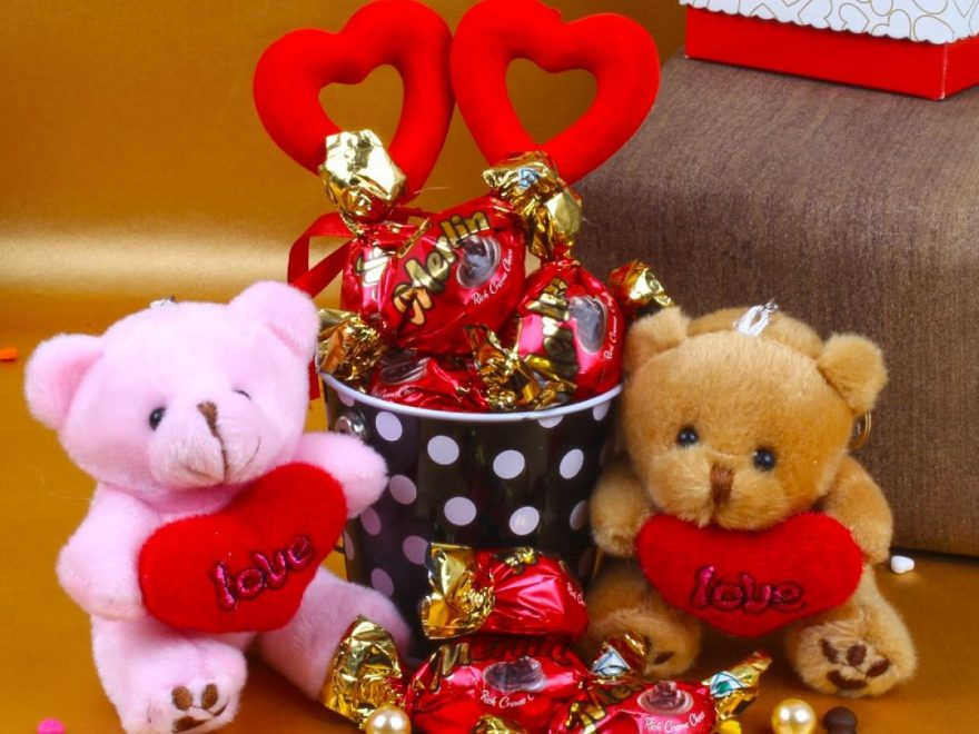 chocolate with teddy bear
