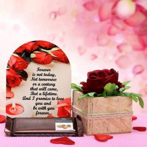 love book with floral hamper