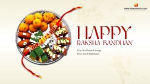 happy raksha bandhan thali