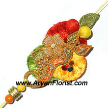 productSend this attractive Rakhi to your brother. As beautiful as brother-sister bond, this Rakhi is stunningly crafted with the most detailed embellishments. Soft threads, colorful beads, sparkly trinkets and decorative knick-knacks are creatively put together in a fashionable design � the best a sister would choose for her brother.