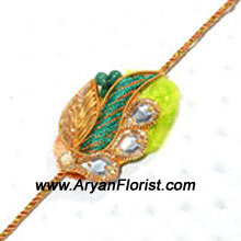 productA beautiful Rakhi crafted with love for your brother. This Rakhi is created with the most colorful beads, decorative embellishments, and silky threads. The colors embody the gorgeous expression of love that brothers and sisters share. Send this to your brother on the occasion of Raksha Bandhan.