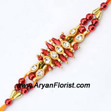 productMake your brother feel special by sending him this trendy rakhi. Created with delicate embellishments, the Rakhi is designed in a unique pattern. Tied together with traditional silky threads, this Rakhi is a beautiful representation of your love for your brother.
