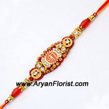 productThe bond of love between brothers and sisters is one of the most beautiful relationships. Cherish that bond by delighting your brother with this beautiful Rakhi. Crafted with beads, trinkets and fancy knick-knacks, this Rakhi gets delivered wrapped in a fancy package. Make the day special for your brother.