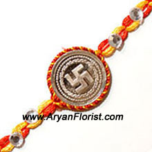 productElegance meets traditional beauty in this Rakhi. A true expression of your love for your brother, this Rakhi is created with several detailed embellishments exemplifying the many emotions of sibling love. Tied together with a soft red thread, it makes the auspicious day of Raksha Bandhan even more special. Delight your brother by sending this Rakhi to him.