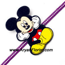productMickey Mouse is here! For those little brothers who are fans of Mickey Mouse, this Rakhi is the best that you could send him. Combine it with cake and chocolates and send it all wrapped with your love.