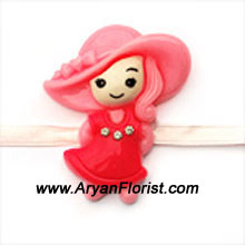 productThis Little Miss Pretty Doll Rakhi will ensure your brother that you will always be his little doll. Made of colorful threads and embellishments, this cute Rakhi will surely make your brother happy. Send it to him wrapped with your love.