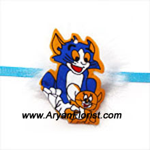 productIf you little brother is a Tom & Jerry fan, this Rakhi is perfect to make him happy on Raksha Bandhan. This colorful Rakhi will add the colors of joy and laughter in your little brother's life on Raksha Bandhan.