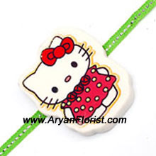 productFor those little brothers who like Hello Kitty, this Rakhi will make them happiest. Order it along with chocolates and cake and celebrate Raksha Bandhan with all the sweetness. Send this Rakhi along with chocolates and cakes of his choice.
