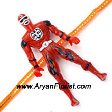 productSend this Action Hero Rakhi to your little brother on Raksha Bandhan. For those little brothers who love super heroes, this Rakhi is a perfect match. Make your little brother�s day special.
