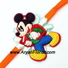 productFor the Mickey Mouse fans, here�s a cute little Mickey Mouse Rakhi to make your little brother happy. Send this Rakhi for Raksha Bandhan and make sure your little brother has the best time. Send it along with cakes and chocolates and make it sweeter!