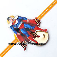 productThis fancy Superman Rakhi is sure to delight your little brother. Send it to him on Raksha Bandhan and show him how much you love him. For those who love the super heroes, this one will surely make the day special.