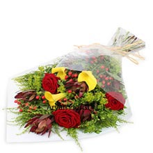 productWhat goes hand in hand is made for each other, just like the interwoven bunch of 6 Red Roses and 6 Yellow Carnations. The bunch is nicely covered to make it easy for carrying and radiates warmth and love. Shower the same warmth and love to your precious someone to make your evening more hale and hearty. Hand in Hand of the flowers displays the same affection that you share with your partner/friend. Buy now to prove your love!