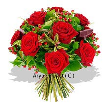 productA bunch of 12 Red Roses come to you woven together for any special day which you want to make it all the more special. This is a large bunch that is well decorated with seasonal fillers that enhance the beauty of these even further. Gifting is a part of every relation, and thinking each time makes it difficult. This bunch of roses is apt for those who run out of ideas of gifts as Roses can make every day and every occasion special. Buy now!