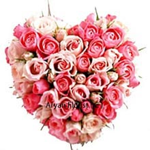 productBe mine! is best said with this lovely, endearing heart shaped arrangement of 50 Pink Roses. You will not be turned down as this heart shaped arrangement flows positive vibes that transform the person. The only legacy we take with us is our disposition, these pink roses make your disposition a happy one. Present it to your would be with love and care and taste the fruit of love. Place your order now and say what you want to say!