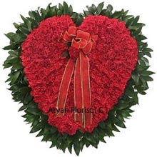 productRoses galore through this awesome Heart shaped arrangement made from 250 roses, will make your love and its vibes travel anywhere in the country. The lovely roses are placed beautifully and judiciously in shape that allows you to live, your Heart. So present it to someone who is dearly special and close to your heart. Place your order now and get hitched with this arrangement!