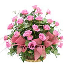 productThe conventional way of giving flowers was by plucking them from the source and presenting them in a basket. To bring those memoirs back, but with an urban aura, we have plucked these 24 pink roses and placed them wonderfully in a basket. They are ready to be presented and delivered to the special person with whom you may have spent some beautiful time. The basket is adorned with ribbons that certainly enhances the appearance. Buy Now!