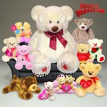productThis is a pack of One 4 Feet Tall Teddy Bear, Two 1.5 Feet Teddy Bears, One Couple Teddy Bears and Five Small Teddy Bears. You can decorate your rooms with these cute soft toys or you can gift it to the most admirable person residing close to your heart. These are personalized teddy bears tailored made for your actual need. Present this pack in special occasions and days and live the moment forever. (Please Note That We Reserve the Right to Substitute Any Product with a Suitable Product of Equal Value In Case Of Non Availability of a Certain Product)