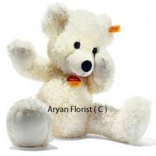 productA perfect way to surprise your loved ones, order this small teddy bear with tons of cuteness for your special friends and loved ones. It's soft fur and twinkling eyes are hard to resist when you want to add a touch of something loveable to a birthday gift, a get well soon wish or welcome home present.