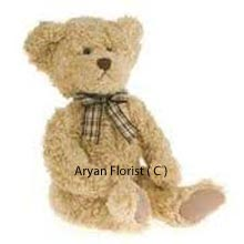 A furry bodied, medium size cute teddy bear is an apt gift for your mommy, granny, wife, husband, niece and little nephew who you are planning to meet after a gap of time. This gift will impress the receiver and you will be welcomed, especially if it is for a little one. The bow tied on the neck of the teddy bear is in perfect contrast and makes it more attractive. Go ahead and order now! ( Please Note That We Reserve The Right To Substitute Any Product With A Suitable Product Of Equal Value In Case Of Non Availability Of A Certain Product)