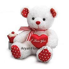productMedium Size Cute Teddy Bear With A Heart is a happy looking Teddy Bear that you will want to order and keep it handy for any occasion, from a Birthday to an Anniversary. You will be pleased and will not regret buying this Teddy presenting an 'I Love You' message for the one you love. It comes in an attractive white and red combination that is pleasing in appearance. ( Please Note That We Reserve The Right To Substitute Any Product With A Suitable Product Of Equal Value In Case Of Non Availability Of A Certain Product)