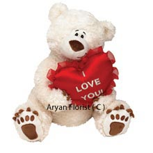 productSoft furry ears, sparkling eyes, a fluffy body and cute tiny paws holding a heart. This cute medium size teddy bear is the sweetest gift that you could send to your sweetheart. Send it to express your loving wishes on special occasions such as on her birthday, anniversary or on Valentines Day. The teddy gets delivered wrapped with all your love.