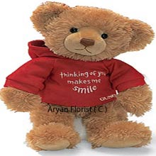 Express your love with this cute medium size teddy bear. It's soft touch and sweet face will make your loved one's day lovely. Surprise your friend, wife or girlfriend and brighten up their day.