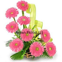 productWith this universal color of love for oneself and for others you will make lasting impressions. As we say, first impression is the last impressions, these nine pink gerberas with contrasting fillers (usually green) will help you make that everlasting impression that no one will ever forget. Showing tenderness and femininity, you will be making the perfect choice if you present this to your women friend or your mum on any of her special days.
