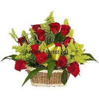 productKeeping it natural and different, this garden-fresh bouquet of 18 red roses is created to charm. The seasonal fillers add elegance, while a big satin bow on the basket adds a luxurious element. This one is small and easy to carry and place on any table. A favourite for sending wishes on birthdays, promotions, anniversaries, this is a perfect case of good things coming in small packages.