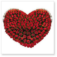 productThis artistic arrangement features a 100 red roses in the shape of a heart. Assorted from the best rose farms and placed delicately, the fragrance of a hundred roses is magnificent and engulfing. Green leaves and fillers surround the heart for added beauty and style. The red energizes any space. Order it to send congratulations to friends, family and your beloved and make the day special with surprise.