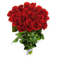 productThis beauty of a bouquet is beautifully created with two-dozen fresh red roses. Long stem red roses are brought together to form a bunch in such a manner that the leaves remain below the flowers. The specially crafted bouquet is perfect for those days when you want to brighten your loved one's day. Beautifully created and perfectly delivered, this one is a charmer.