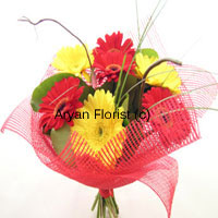 productYour family members are a blessing in disguise, so do not miss any special occasion to please them with a beautiful bunch of twelve mixed and bright gerberas. Show them that you love and care with this breathtakingly amazing bunch. On a dinner date with your wife, mum or as a surprise for your children's or husband's birthday, give them this and make them speechless. This loss of words will still fill the air with affinity. Order now!