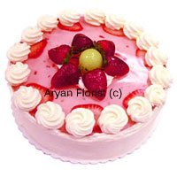 1/2 Kg (1 Lbs) Strawberry Cake