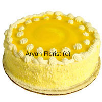 productThe 1 kg (2.2lb) unpretentious pineapple cake is in solidarity with all the celebrations and good wishes that you want to send or receive. One of the most sought after cake with a glossy look and beautiful white colored cream flowers that elevate the comprehensive look of this simple pineapple cake can be ordered any time for any festivities. This cake replicates the sweetness and the color of the pineapple through its golden color.