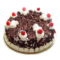productAmidst the flaky forest you will find peace when you gobble this not so contemporary 1/2 kg (1.1lb) black forest cake. Ready and available at all times, this cake is an impulsive but an accurate pick. Covered with chocolate flakes, this cake is in harmony with emotions. The moisture in the cake and the cherry on the top is an epitome of care and admiration. It speaks the mind of the sender and is apt for all occasions.