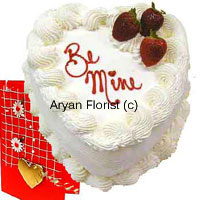 productThe rich heart shaped vanilla cake with amazing richness added by the strawberries, is perfect order for occasions filled with love and joy. Beautiful messages, like 'be mine', I love you', can add to the charm. The cake comes in 1 kg (2.2 lb) and the pearly color is mild and soothing to the eyes. Its rich vanilla cream does wonder to the palate. The color scheme of this cake is its highlight, epitomizing affection and admiration.