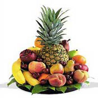 productThis mixed fruit Basket of 5 Kg (11 Lbs) contains assorted fresh fruits which are of high quality adding to great diet value for consumers. This is a clever choice as it is a package of all good fruits at a reasonable rate. This when gifted to dear ones will also bring smile to their faces instantly, and with the aura and taste they are sure to get pampered with such a fine basket of present.