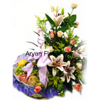 productBeautifully arranged flowers and finely sorted fruits banded together with satin ribbon certainly enhance the aesthetic beauty of this exclusive pack is one of the best possible presents for any occasions. This Basket weighs 3 Kg (6.6 Lbs) consisting Assorted Fresh Fruit with Assorted Flowers comes to your door at an affordable price is a must buy and something not to be missed out. Gift it to show that you care and share happiness together!
