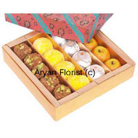 productJust a delightful pack of joy in hand with such a reasonable price is definitely a good buy for you. This pack contains Assorted Mithai covered within acolorful Gift Box ready to be delivered for your loved ones. Most loved Indian sweets assembled together come as a best possible gift for any occasions and special days of happiness to show respect, affection for elders and younger ones respectively. A must buy in festivals here.
