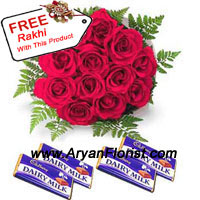 productExcessive admiration in the brother sister relation is best declared with red roses and chocolates. No matter what age your sister/brother is, this bunch of 12 red roses and assorted chocolates will make you a child again. So on this Raksha Bandhan glorify the relation more than ever before. The affirmation given through this is reinforced with the Rakhi that comes complimentary with this pack. Order these beautiful roses and chocolates and make the day more memorable.