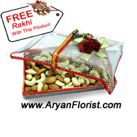 productRemembering the sweet and sour memories on this Raksha Bandhan, gift this mixed box of dry fruits to your sibling. Get nostalgic this Rakhi and think of the fights, love, admiration, care, help and blessings that you may have showered on each other on various occasions and events. This is 500 gm box of mixed dry fruit that comes with a free Rakhi to cherish this year's Rakhi and add it to the list of already cherished ones.
