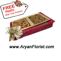 productWhen feeling bereft of sibling's love this year due to distance, send this 1 kg mixed dry fruits pack to your brother's house along with the Rakhi that comes free with this pack of dry fruits. The twinkling in your eyes will come back when you will receive a Thank you call from your brother that will oblige him to express his love and how much he is missing you on this Rakhi. Place your order now and feel the emotions.