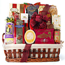 productThis ready to eat finest feasts is ideal to please a large number of people. So celebrate Rakhi with family and this lovely gift pack. It includes, like Ghirardelli Chocolate Raspberry Squares, Pistachios, White Corn Chips and Salsa, Chocolate Wafer Cookies, Dolcetto Wafer Rolls, Amaretto Almond Cookies, Chocolate Covered Cherries, Smoked Salmon, Brie Cheese, Cracked Pepper Crackers, Cheese Straws, Chocolate Covered Sandwich Cookies, and Mocha Almonds. (Please Note That We Reserve The Right To Substitute Any Product With A Suitable Product Of Equal Value In Case Of Non-Availability Of A Certain Product)