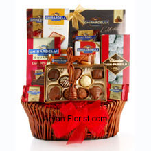 productCure a broken heart with this delicious sweet pack of chocolates! This mesmerizing basket comes with numerous variety of chocolates that come straight from San Francisco. The basket includes Ghirardelli Masterpiece Chocolate, Luxe Almond Bar, Milk Chocolate with Caramel Bar, Luxe Toffee Bar, Dark Chocolate Squares, and Chocolate Non Pareils. The pack also includes a hot cocoa mix, that is perfect to bury the remorse and brighten your life. (All these products are subject to availability and are replaced with goodies of equal value).