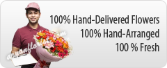 100 % Fresh Flower Delivery in Kolkata